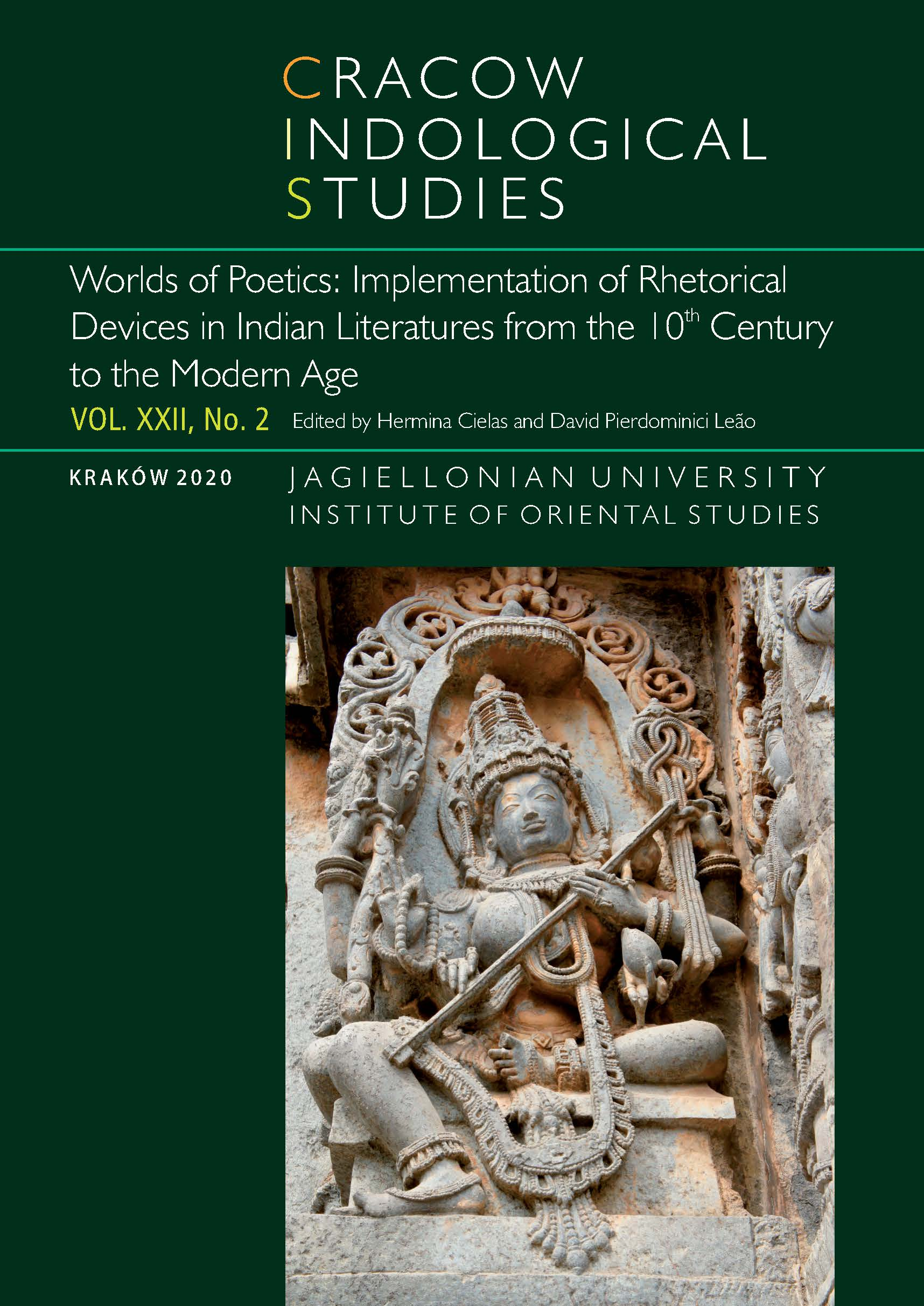View Vol. 22 No. 2 (2020): Worlds of Poetics: Implementation of Rhetorical Devices in Indian Literatures from the 10th Century to the Modern Age