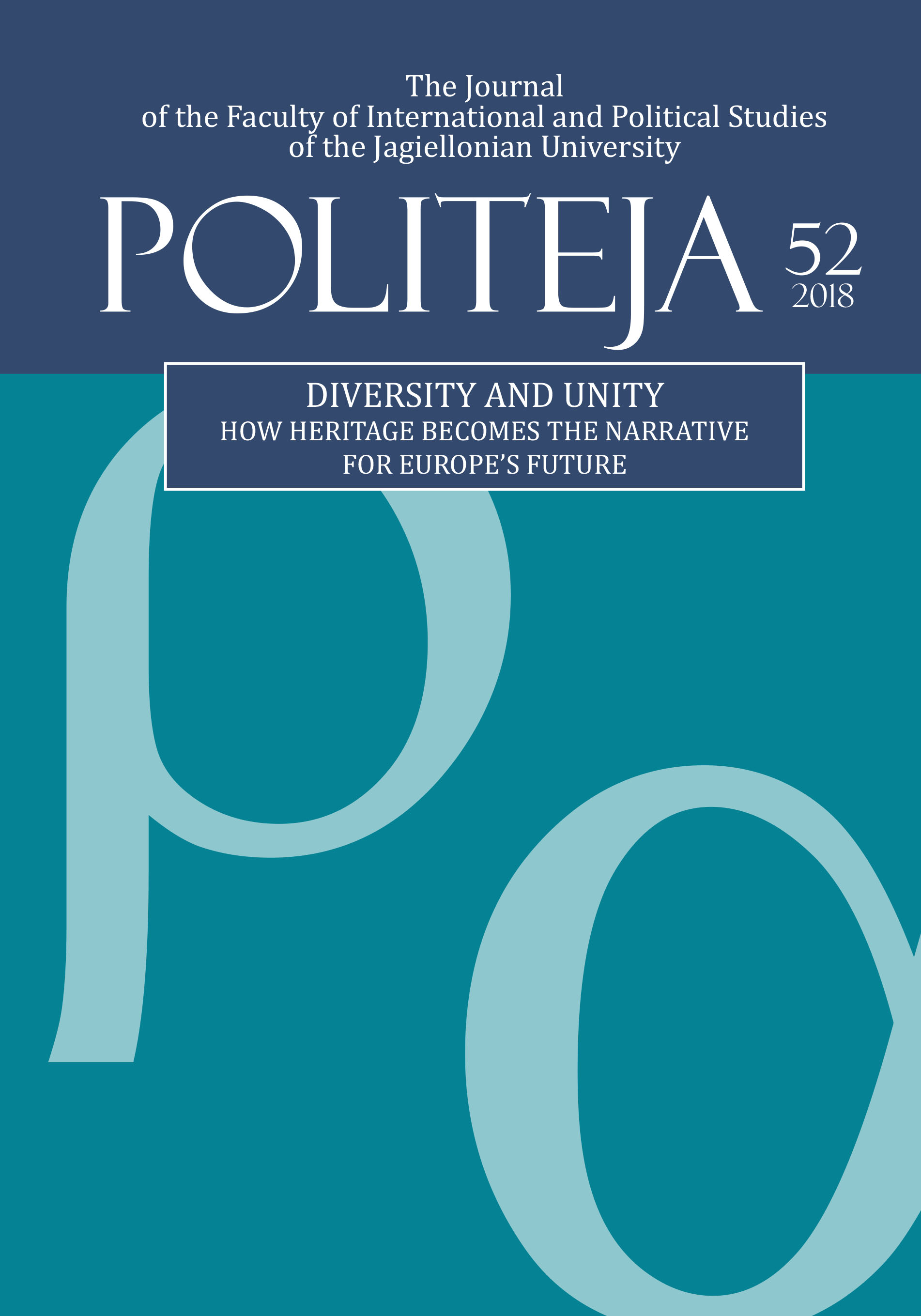 View Vol. 15 No. 1(52) (2018): Diversity and Unity. How Heritage Becomes the Narrative for Europe's Future