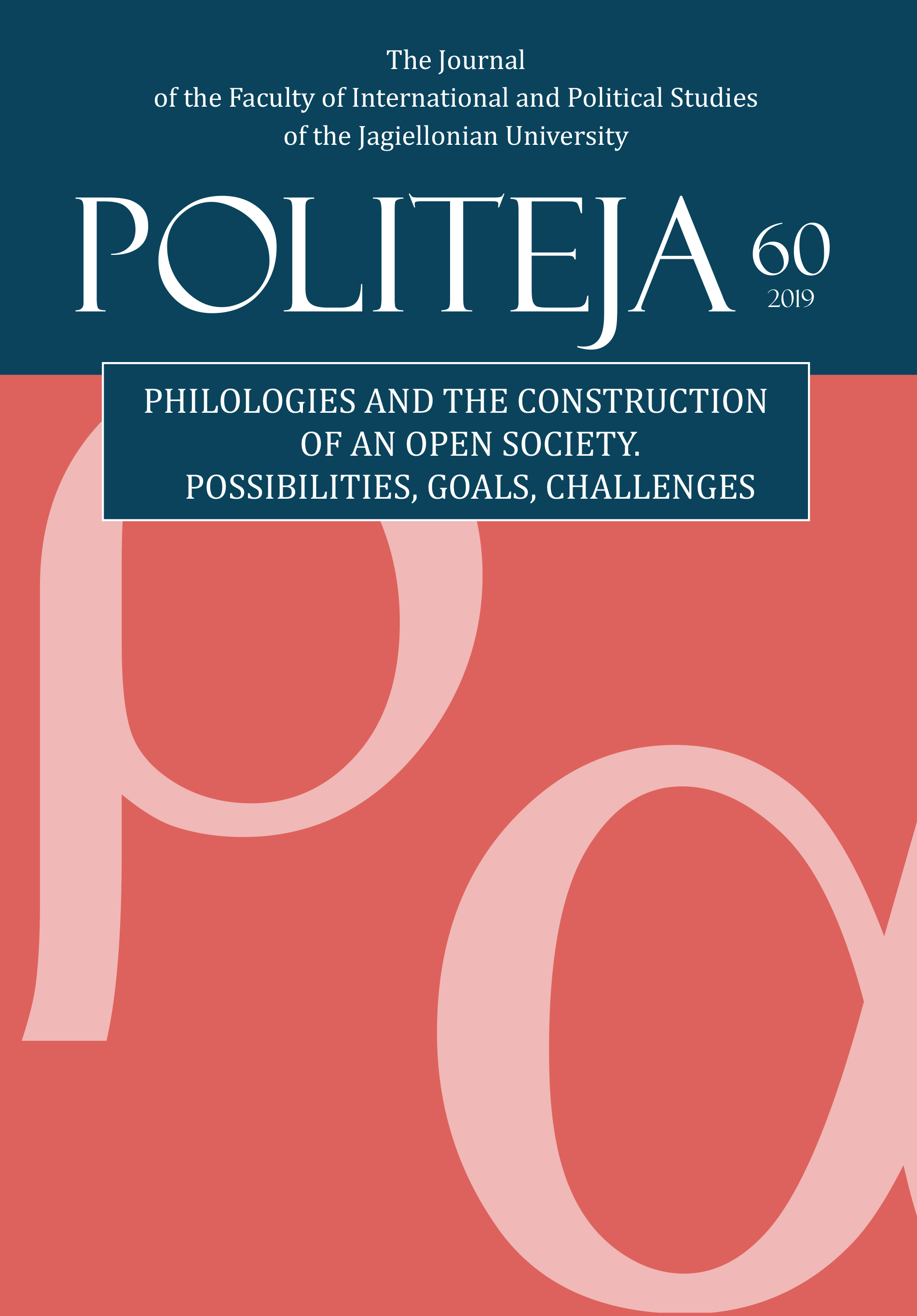 View Vol. 16 No. 3(60) (2019): Philologies and the Construction of an Open Society: Possibilities, Goals, Challenges